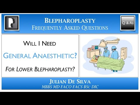 Watch Video: Do I need to have GENERAL ANAESTHETIC for Lower Blepharoplasty?