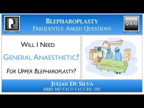 Watch YouTube: Do I need to have GENERAL ANAESTHETIC for Upper Blepharoplasty?