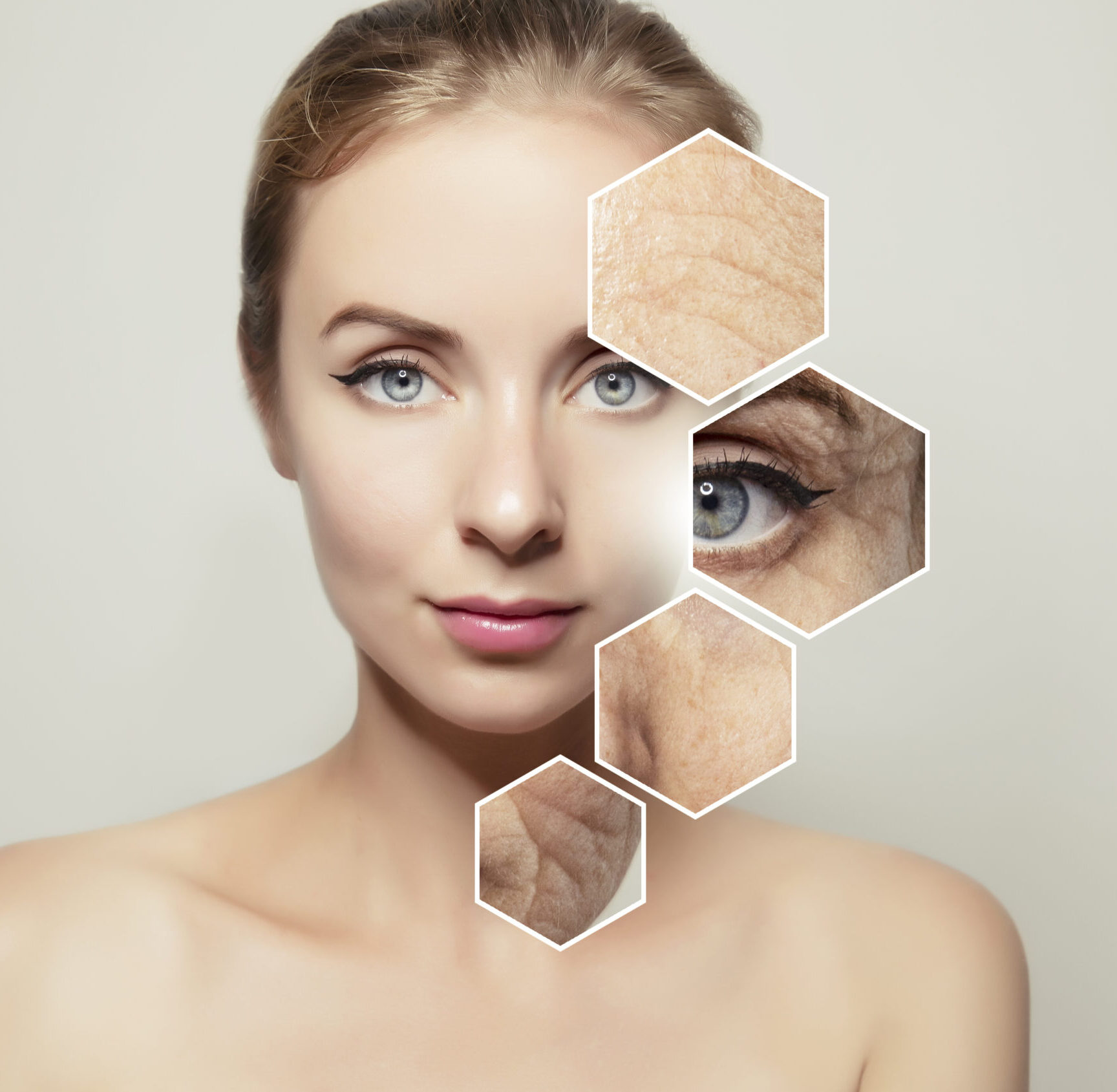 Physical Exercise for woman's face, wrinkles areas (eyes, lips, forehead, face)