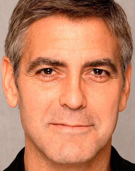 George Clooney brow position