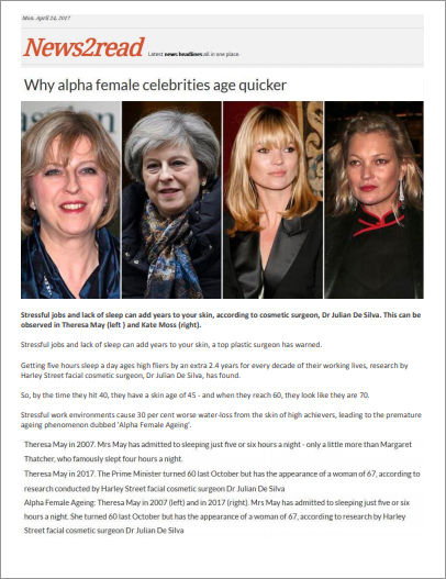 Article: News2read - Why alpha female celebrities age quicker