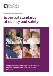 CareQuality - Essential standards of quality and safety