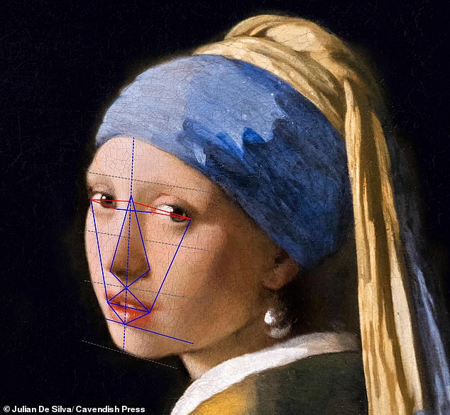 In fourth place was the 1665 Girl With A Pearl Earring by Dutch master Johannes Vermeer with 86.3 per cent - scoring well for her eyebrows and the shape of her nose and face