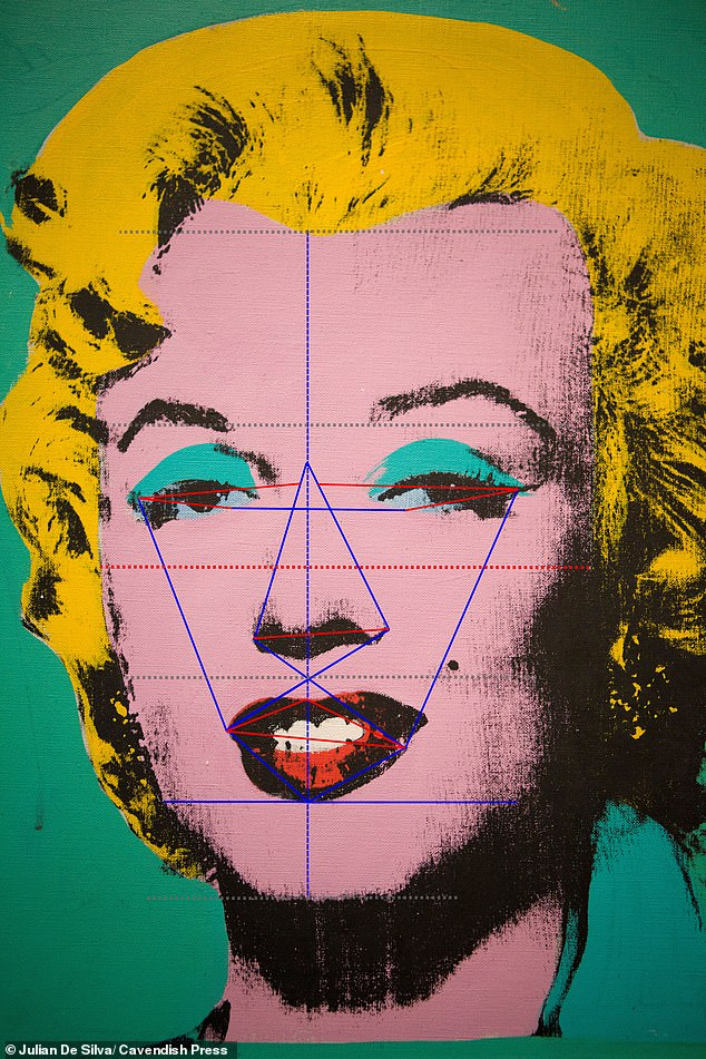The Mona Lisa was beaten to first place in the beauty stakes by other well-known female portraits such as Warhol's Marilyn Monroe (89.1 per cent) (pictured)