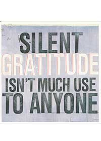 Patient Testimonials: Silent Gratitude isn't much use to anyone | patient 49